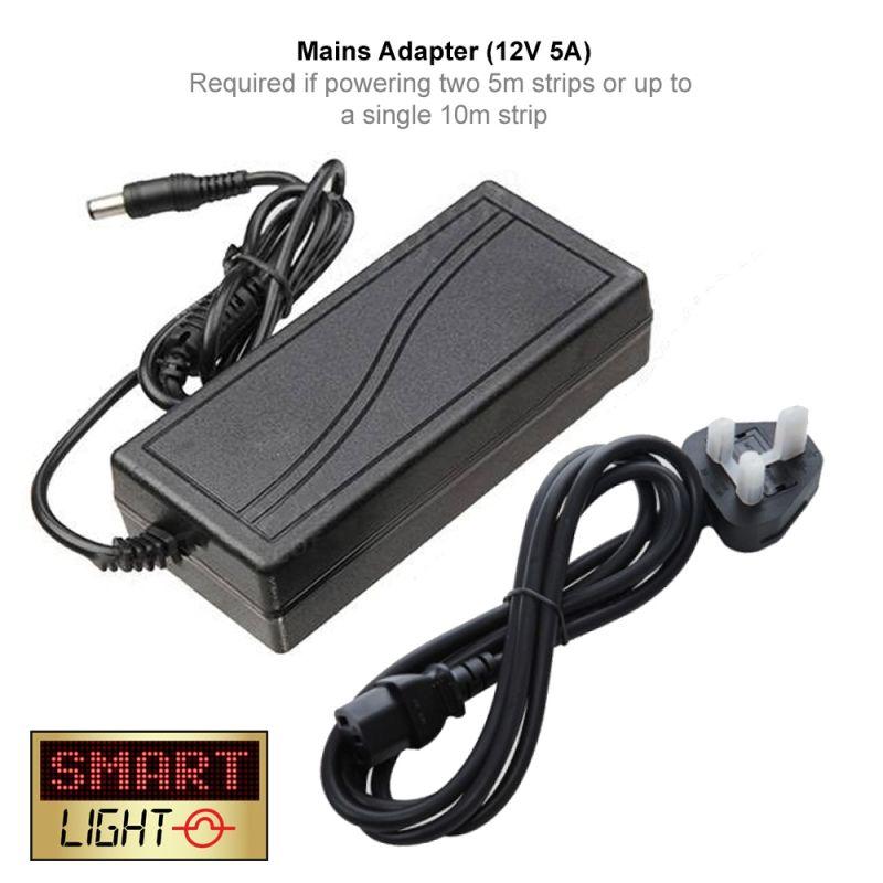 12V 5A DC Adapter for LED Lights