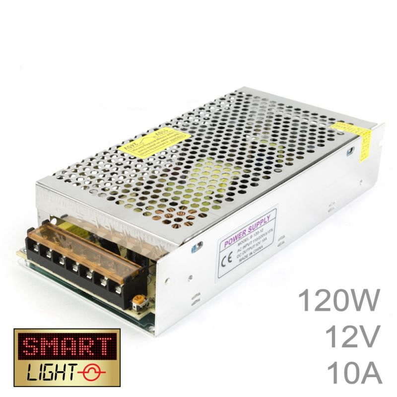 120W (12V/10A) Commercial Power Supply for LED Strips