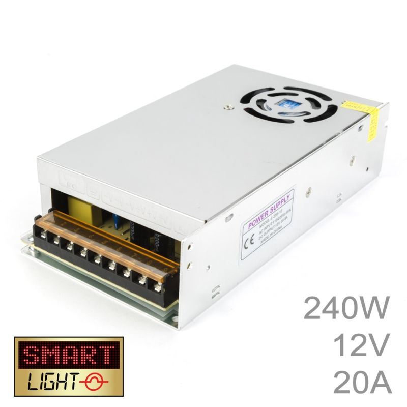 240W (12V/20A) Commercial Power Supply for LED Strips