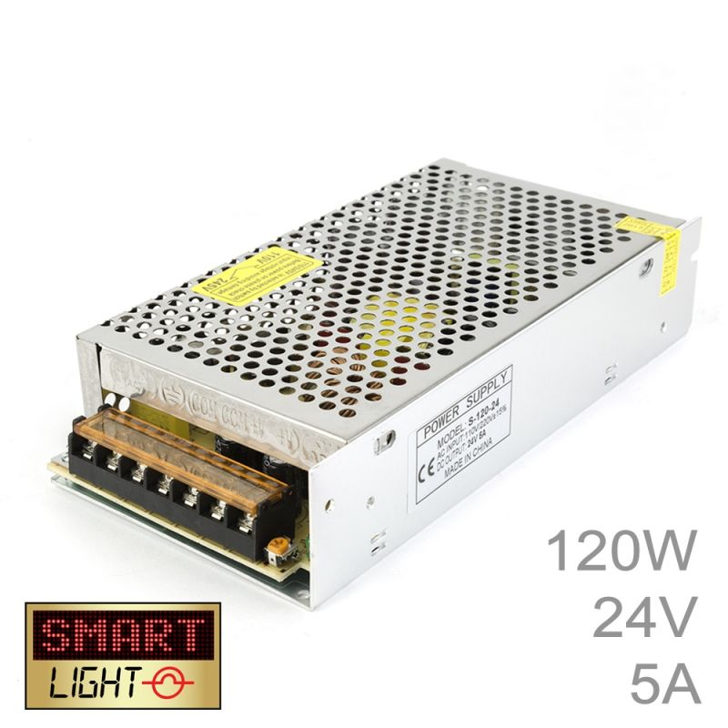 120W (24V/5A) Commercial Power Supply for LED Strips