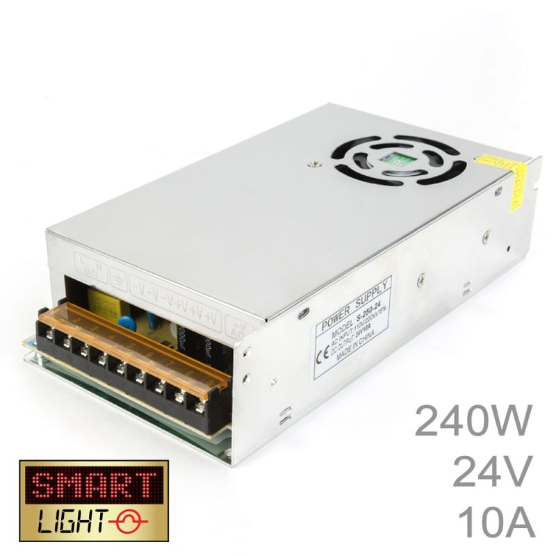 240W (24V/10A) Commercial Power Supply for LED Strips