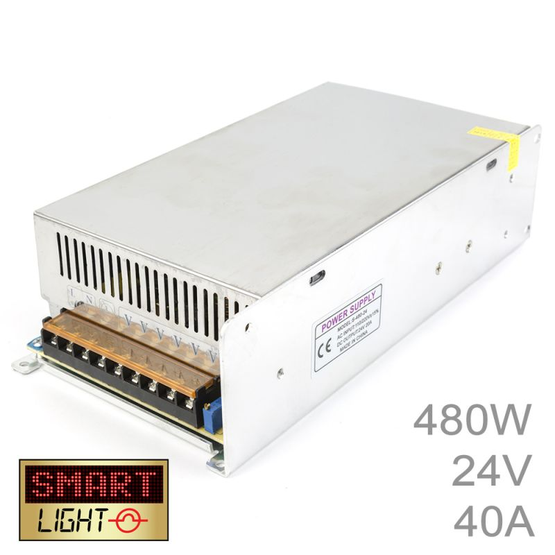 480W (24V/20A) Commercial Power Supply for LED Strips