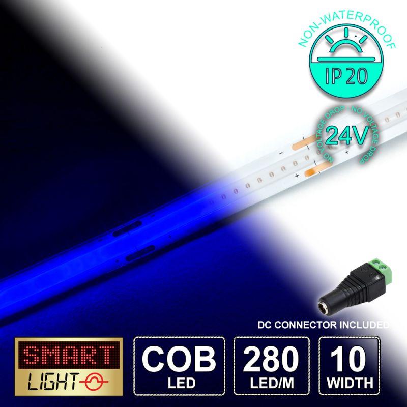 24V/5M BLUE COB Continuous LED Strip Tape IP20/1400 LED (Strip Only)
