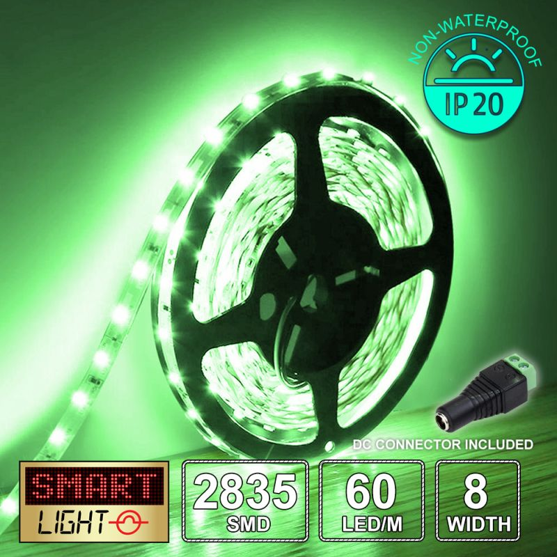 12V/5M SMD 2835 IP20 Non-Waterproof Strip 300 LED - GREEN