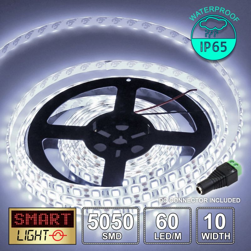 12V/1M SMD 5050 IP65 Waterproof Strip 60 LED - COOL WHITE