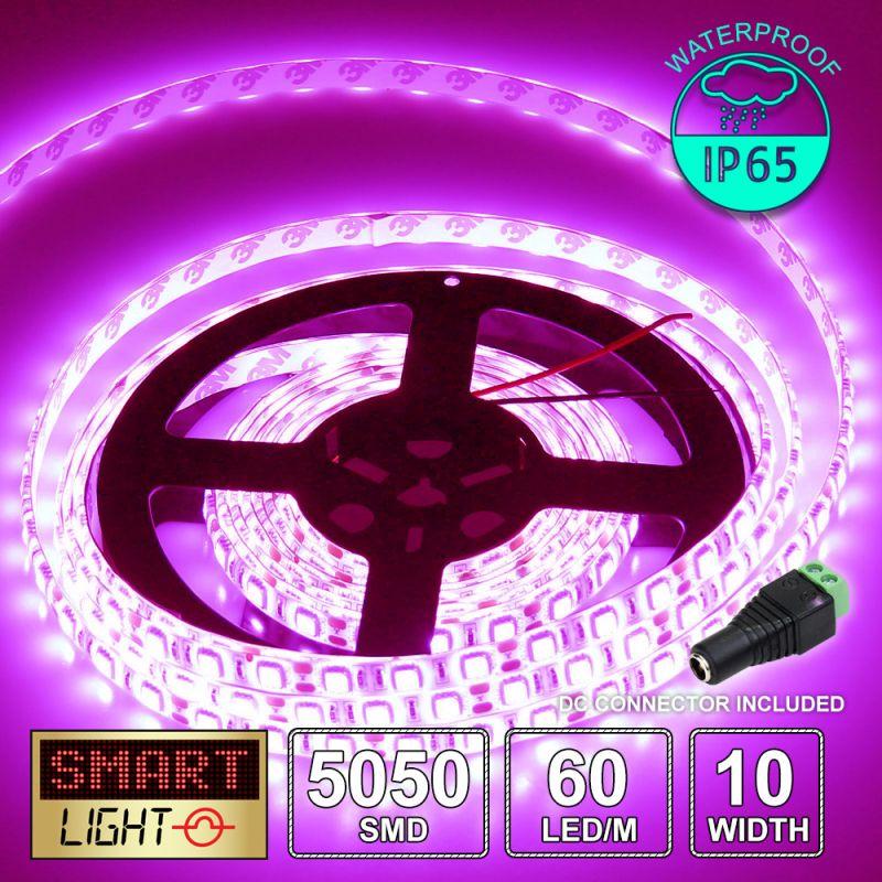 12V/1M SMD 5050 IP65 Waterproof Strip 60 LED - PINK