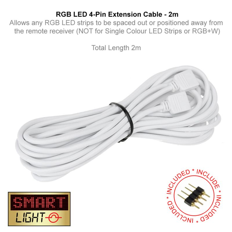 2m 4 Pin Extension Cable