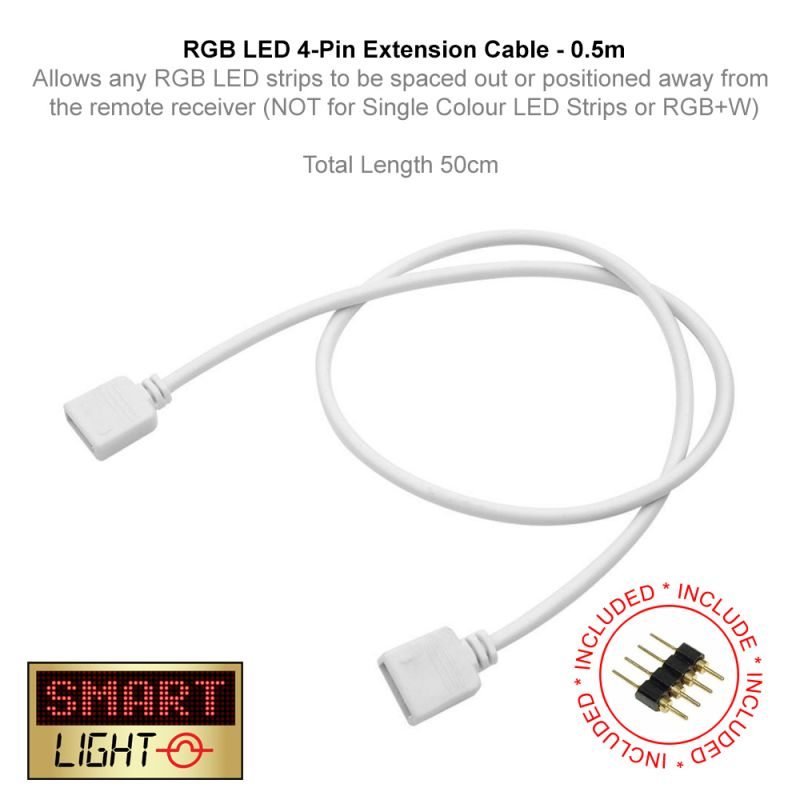 0.5m 4 Pin Extension Cable