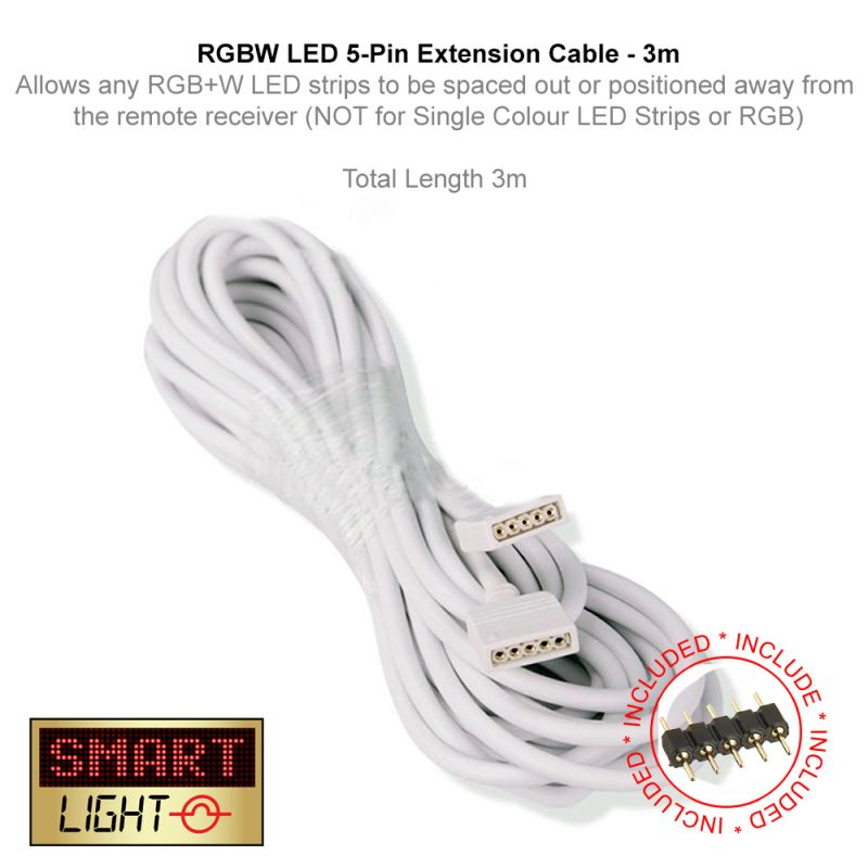 3m 4 Pin Extension Cable